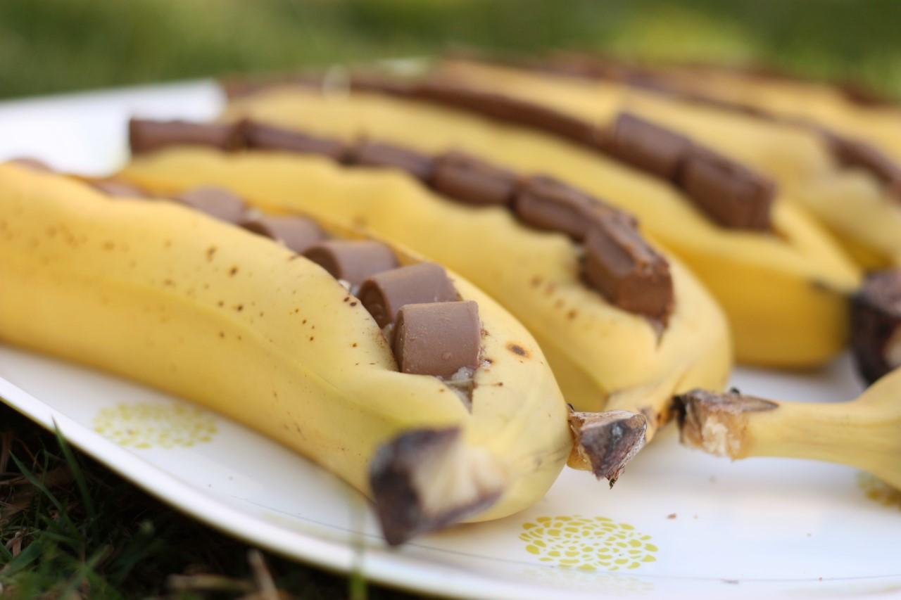 banan med choklad i micro
